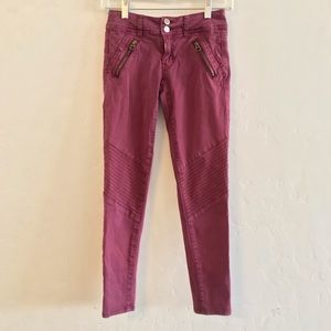 American Eagle Outfitters Moto Skinny Crop Pants